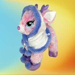 "Build A Bear Pink Twinkle Reindeer 15"" Plush"